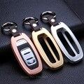 Lexury кожа брелок ключа автомобиля держатель авто алюминиевого сплава ключ крышка shell для Audi A6L/Q5/A7/A8L/A5/A4L/S7/S5/S6