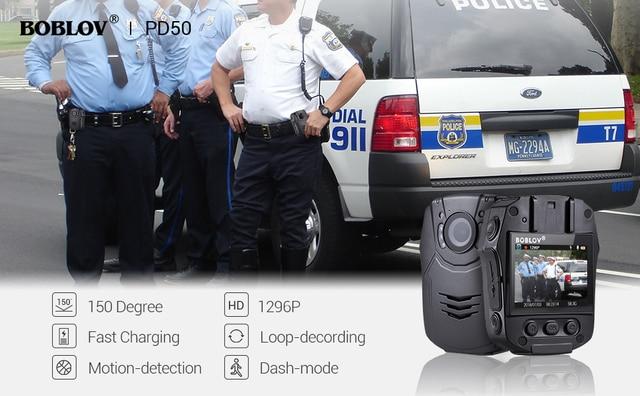 New BOBLOV 32GB/64GB HD 1296P Body Worn Camera Novatek 96658 Police Security IR Night Vision 32MP Video Fast charging Kamera 2