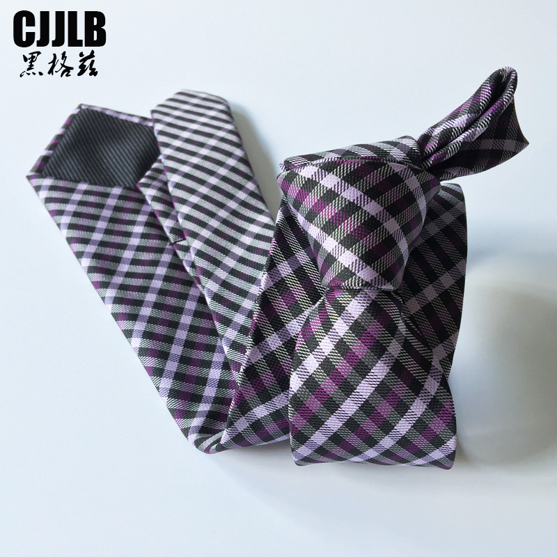 Hombre Gravata Mens 8 cm Fashion Ties Purple Plaid Tie 2018 New Brand Man Necktie Wedding Neck Tie For Men Formal Business Suit