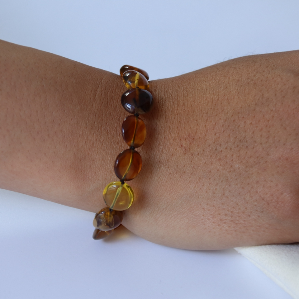 Natural burmese amber bracelets+certificated+lovely colorful round beads handmade+unique burmite+adjustable+warm&elegant gift