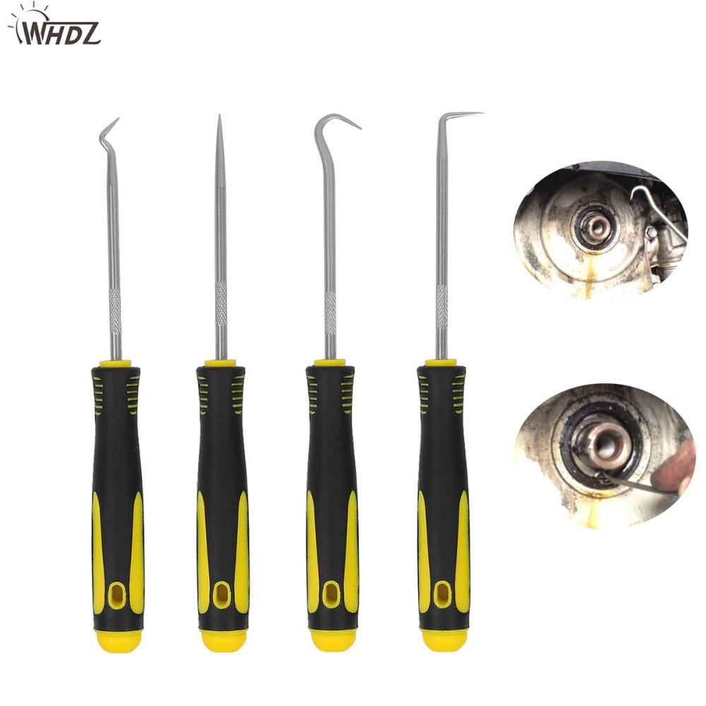 WHDZ Durable Car Hook Craft Hand Tools 4Pcs Oil Seal O-Ring Seal Remover Pick Set