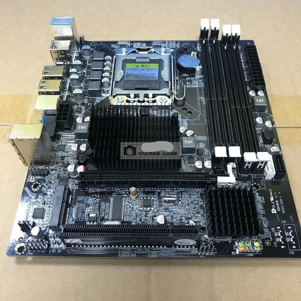 New X58 motherboard desktop computer LGA1366 DDR3 32G 4x8G L/E5520 5550  5570 650 I7 920 930 950 SATA2 0 USB2 0