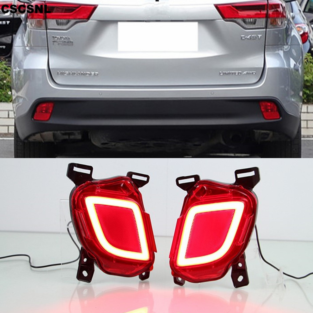CSCSNL For Toyota Highlander 2014 2015 2016 2017 2018 Multi functions Rear Bumper Light Fog Lamp