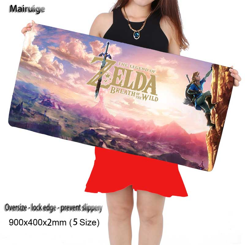 Mairuige The Legend of Zelda Plain Extended Water-resistant Anti-slip Natural Rubber Gaming Mousepad Desk Mat for Cs Go DOTA2