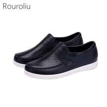 Rouroliu Women Ankle Waterproof Autumn Boots Female Non-Slip Platform Work Water Shoes Lovers Rain Boots Wellies FR13