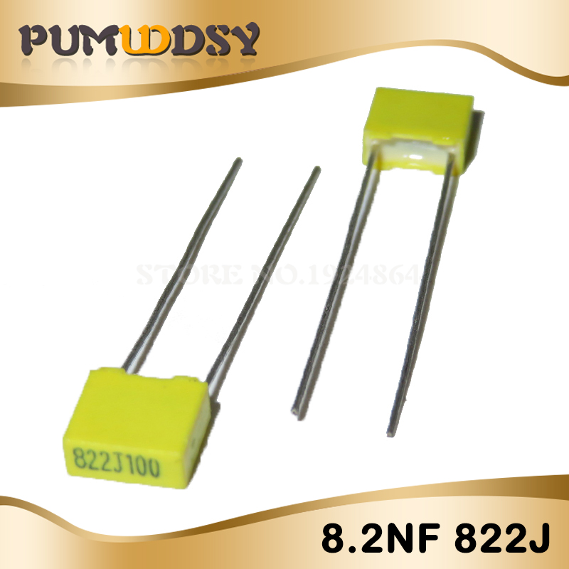 20PCS Correction Capacitor 8.2NF 822J 100V 5mm Polypropylene Safety Plastic Film Capacitor New Original Free Shipping