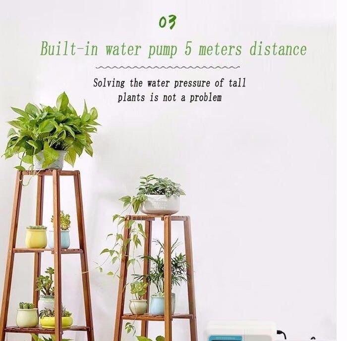 Английский говорящий сад интеллектуальная Солнечная энергия автоматический полив-устройство таймер-система капельного орошения водяной насос Горшечное растение
