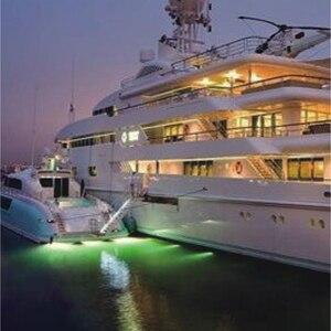 Image 4 - ספינת קיטור DC12V 10 W IP68 עמיד למים LED אור מתחת למים LED תאורה חיצונית אור בריכה שחייה LED נירוסטה כיסוי