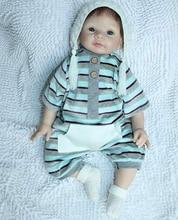 22″ Reborn Newborn Babies Soft Vinyl Dolls Kids Toy with Magnet Pacifier