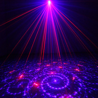 Chims DJ Laser Lighting 3 Lens 24 Pattern Stage Home Party Club RB Laser Blue LED Professional Projector Light Xmas Disco Z24RB