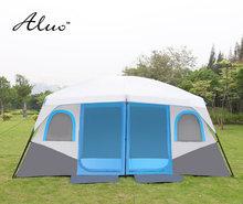Большое пространство палатка Открытый 8-10 человек с двумя спальнями палатка кемпинг оборудование супер большая палатка для семейного барбекю автоматическое двойных слоев