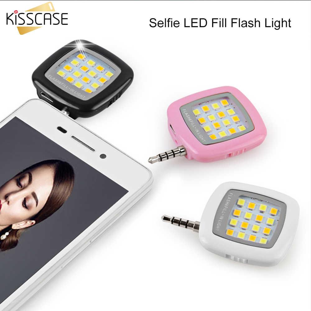 KISSCASE вспышка для селфи вспышка портативный мобильный телефон 16 светодиодная лампа для селфи для Фото Светящийся смартфон заполняющий свет клип огни