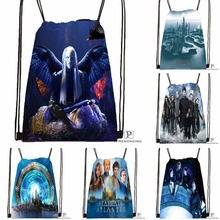 Custom Stargate Atlantis Drawstring Backpack Bag Cute Daypack Kids Satchel (Black Back) 31x40cm#180531-03-59