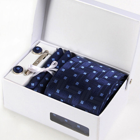 new man blue interview neckwear male mariage necktie print formal business kravat gent font b silk