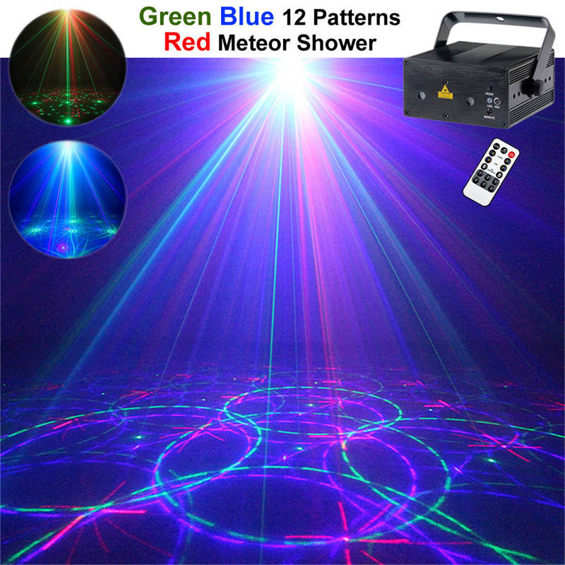 AUCD Remote Music Red Green Blue RGB Laser Stage Light Blue LED Mixing Effect DJ Show Projector Party Lighting Z12R-RGB300