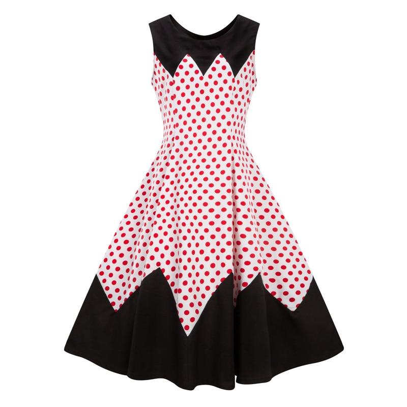 HTB1fUAffHGYBuNjy0Foq6AiBFXaAA Line Casual Rockabilly Skater Swing Plus size Dress