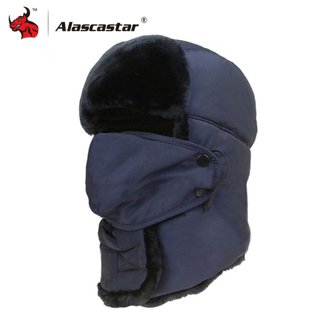 f3237cee4d06a Motorcycle Face Mask Winter Trapper Trooper Hunting Hat Cap Ushanka Ear  Flap Windproof Bomber Hat Balaclava Moto Face Shield