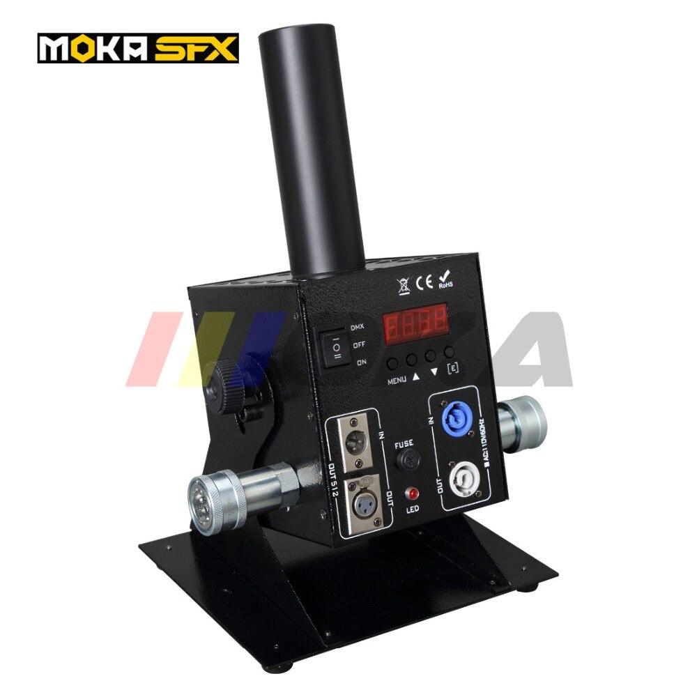 Christmas Decoration Co2 Fog Machine DMX-512 Electric Control Stage Effect 12 LED Co2 Jet Smoke Machine Cryo DJ CO2 Jet Machine