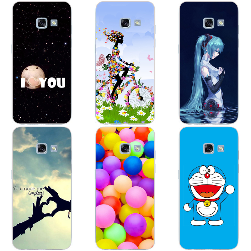 For Samsung Galaxy A7 2017 Hard Plastic Back Cover For Samsung Galaxy A7 2017 A720 A720F Original Printed Cute Animal Phone Case