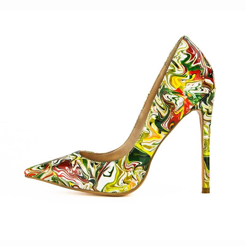 Style Nouveau Us Ef0009 Femme Taille Pompes Magnifique L'intention Initiale Mode Talons Pointu Chaussures Hauts Mince Femmes Plus 15 La Bout 4 E5R1xwq