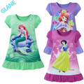 2016 Latest 3-10Y Cartoon Baby Girls Snow White Cotton Dress Kids Summer Party Dress