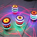 The New Flash Gyro Gyroscope Colorful Lights Peg-Top Manual LED Beyblade Music Top Selling Children's Free Spinning Top Toys
