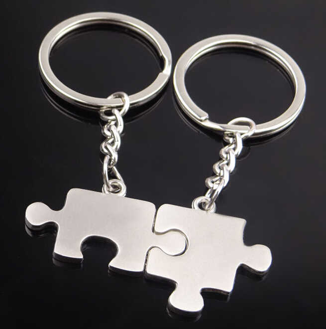 Брелок-головоломка для влюбленных-Уникальный дизайн-головоломка брелок для ключей для автомобиля брелок для ключей Милая цепочка в форме сердца для мужчин женский подарок 17291