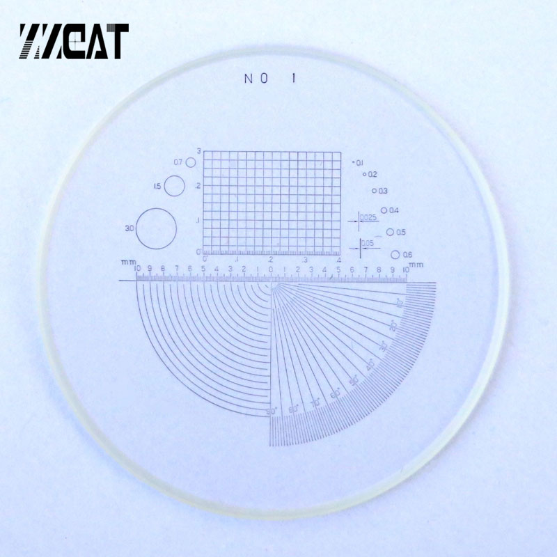 946 Grid Micrometer Angle Reticle Optical Calibration Glass Slide for Microscope Measuring Tools