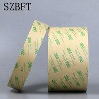 SZBFT м 3 м 467mp 10 мм * 55 м ультра тонкий 3 м 467MP 200MP клейкая двухсторонняя Липкая лента высокая температура. Противостоять крепление для номерного ...