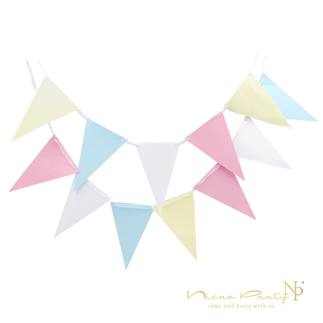 Fresh Nicro 2M Hanging Paper Flags Paper Banner Triangle Flag For Baby  LV25