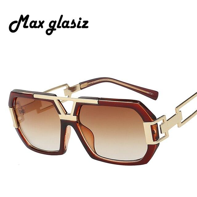 5d7304515bca7 جديد 2018 مربع الرجال الأزياء ظلال نظارات شمسية كبيرة إطار نظارات رجالي  العلامة التجارية مصمم التدرج