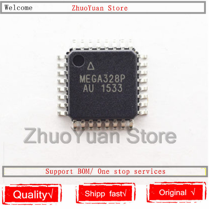 100PCS/lot ATMEGA328P-AU ATMEGA328P MEGA328P-AU LQFP-32 8-bit 32K  IC Chip  New Original