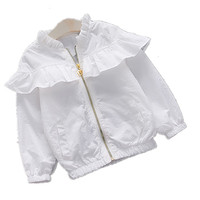 Rose embroidery baby flower jackets coats ruffle spring kids windbreaker coat zipper children outerwear infant girl outerwear