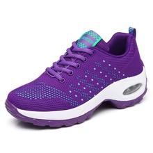 Высокое качество уличные кроссовки для женщин Air кроссовки на подушке Женская сетчатая спортивная обувь женские беговые кроссовки zapatos mujer