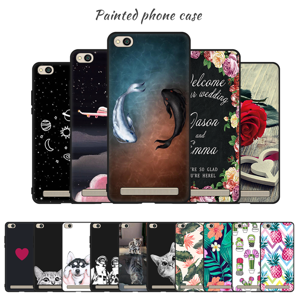 Phone Case For Xiaomi Redmi Note 5 Pro 5A 6 Pro 6A Pattern Painted TPU Soft Cover For Redmi 5 Plus Note 4X 4A 4 Coque