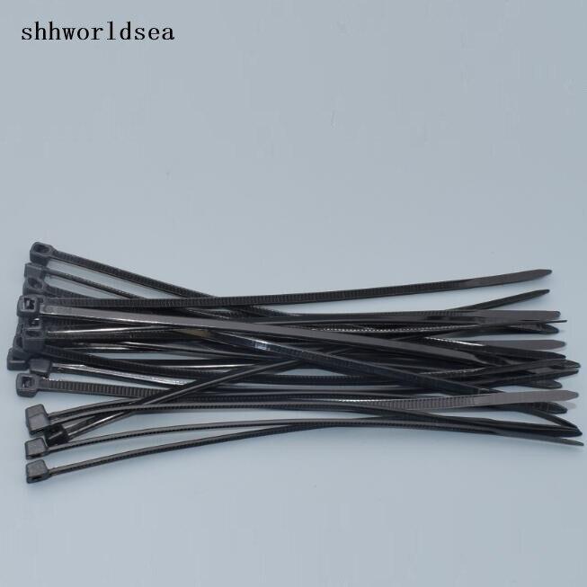 shhworldsea 1000PCS wholesale 3*100mm black Self-locking Plastic Nylon car wire Cable Ties clip,Wire Zip Tie