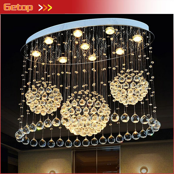 Modern Simple Oval K9 Crystal Lighting Living Room Creative Restaurant Dining Room LED Crystal Hanging Lamp Lighting Fixtures european restaurant crystal chandelier simple ball bedroom modern simple led creative living room lighting dining room
