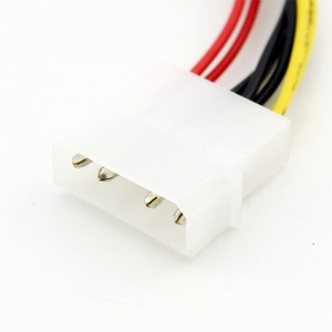 Image 2 - 1pc 4 Pin Molex naar Dual 4 Pin Floppy PC Power Y Splitter Adapter Connector Kabel voor Floppy Drive FDD 20cm