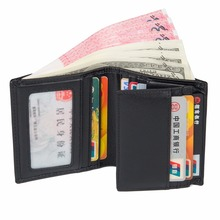 купить High Quality Cow Leather Short Wallet  Card Holder Casual And Fashional Credit Card Case For Adult R-8144A по цене 1496.18 рублей