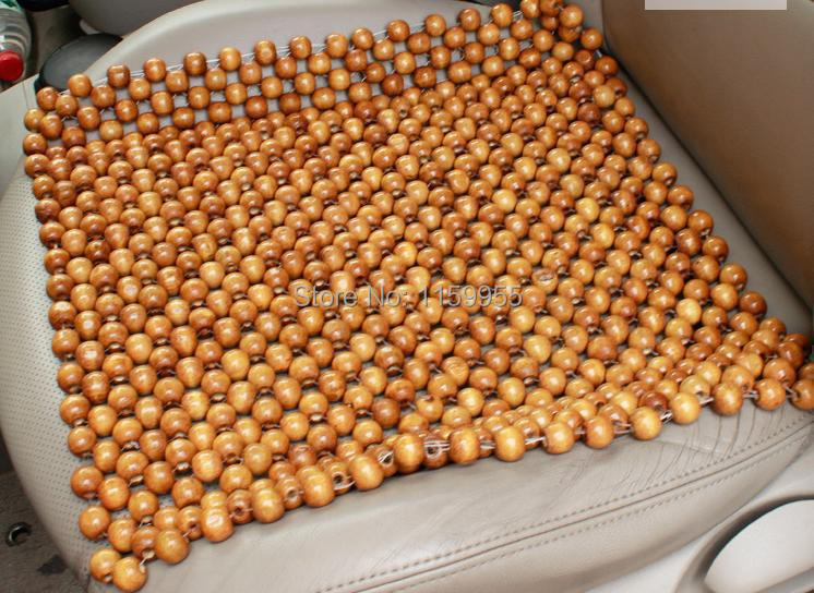 Car Massage Cushion Bead Monolithic Natural Pure Color Logs Manual Wood Cool Seat In Automobiles Covers From
