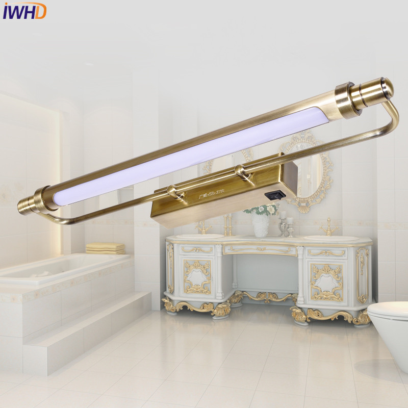 Bathroom Lighting Europe iwhd europe led bathroom light cabinet dresser waterproof vintage