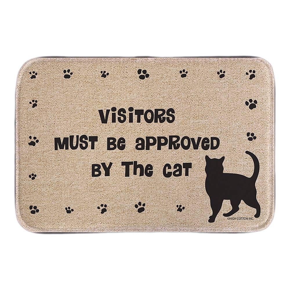 463964e06 يجب الموافقة مدخل ممسحة مع القط سجل الزوار لطيف الحيوانات ديكور المنزل  الباب ماتس قصيرة أفخم النسيج الحصير الحمام