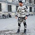 Moda 2017 Mais Novo calças de Camuflagem homens academias roupas Corredores Homens pantalon homme Gymshark Musculação Profissional Sweatpant