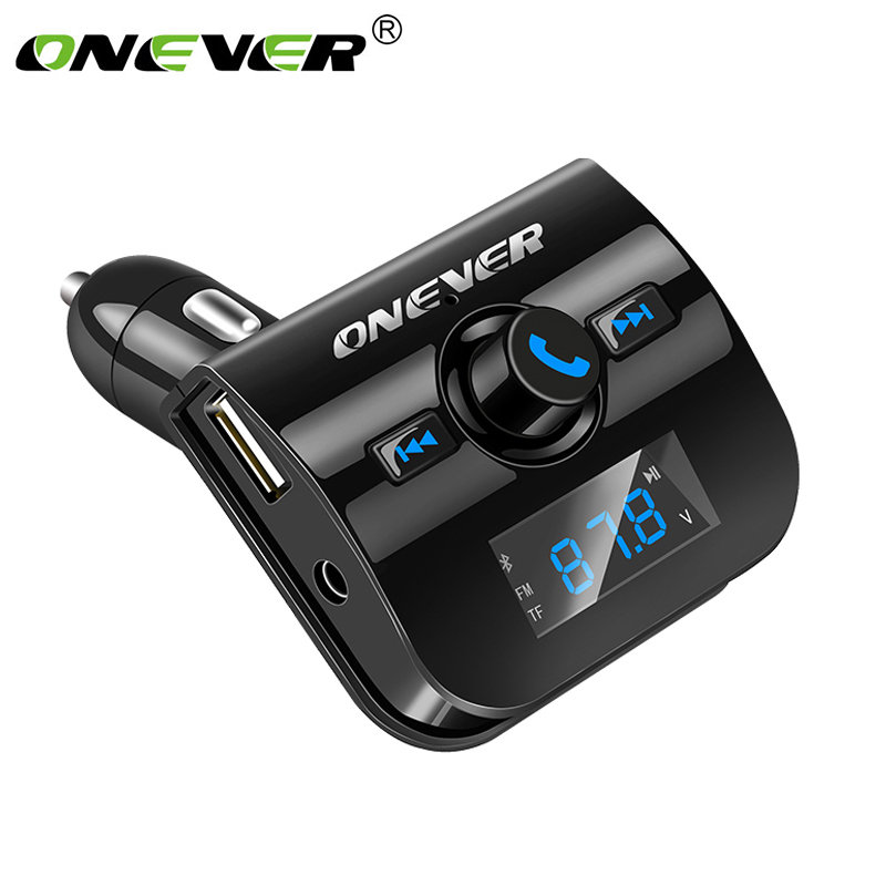Onever Car MP3 Player Bluetooth FM Transmitter Wireless Audio Modulator Handsfree Car Kit Support USB Flash SD/TF Drive FLAC usb