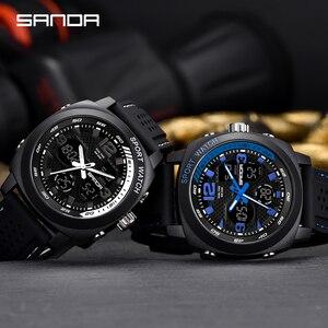 Image 5 - SANDA degli uomini di marca di sport di modo della vigilanza del LED degli uomini impermeabile orologio digitale G casuale di vibrazione orologio militare Relogio Masculino