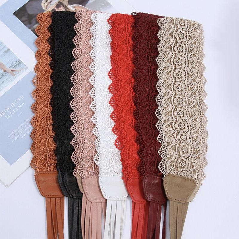 Plus Size Belt Corset Belts For Women Waist Cinturon Mujer Designer Leather Ribbon Lace Dance Belt Ladies Wide Waistband Cintos