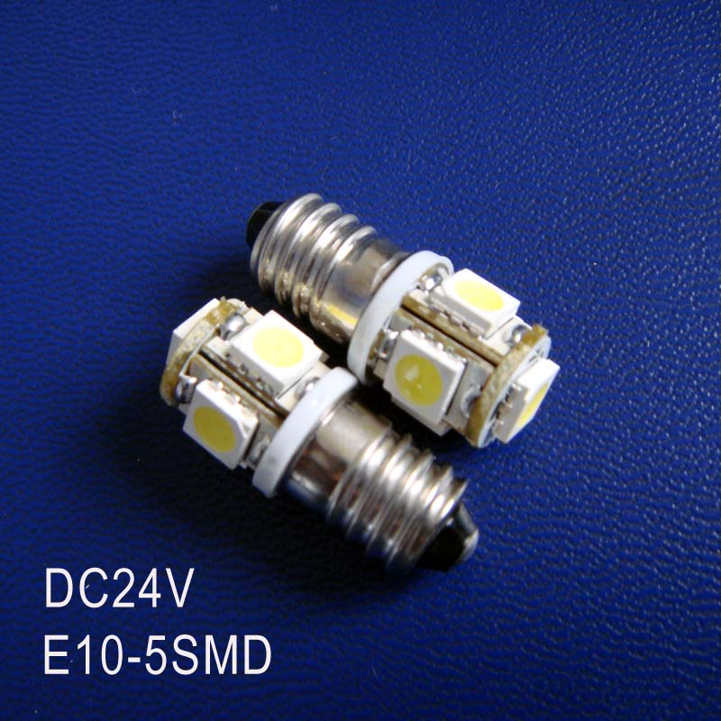 High quality DC24V 1W <font><b>E10</b></font> <font><b>led</b></font> dashboard warning indicator,<font><b>led</b></font> instrument light,<font><b>E10</b></font> 24VDC <font><b>LED</b></font> Lamp Bulb free shipping 5pcs/lot