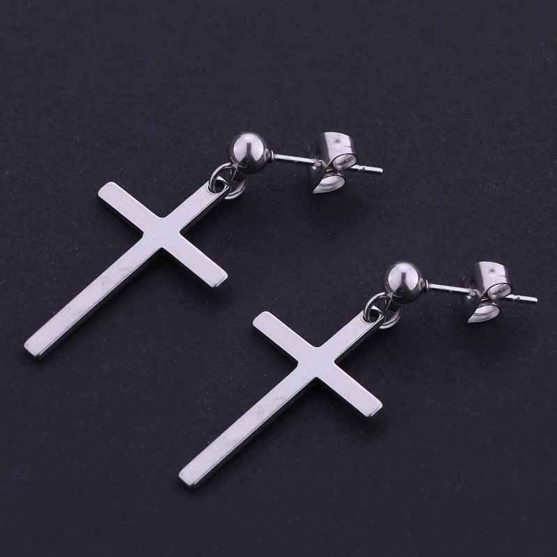Cross earrings unisex earrings cross pendant man woman fashion ear jewelry cool earrings 1 pair