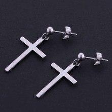Cross earrings unisex earrings cross pendant man woman fashion ear jewelry cool earrings 1 pair