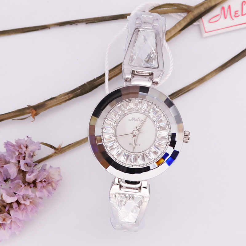 Роскошные женские часы Melissa, элегантные часы со стразами, модные часы, браслет, хрустальные часы, Подарочная коробка для девочек на день рождения